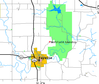 Westfield township, IA map