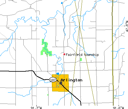 Fairfield township, IA map
