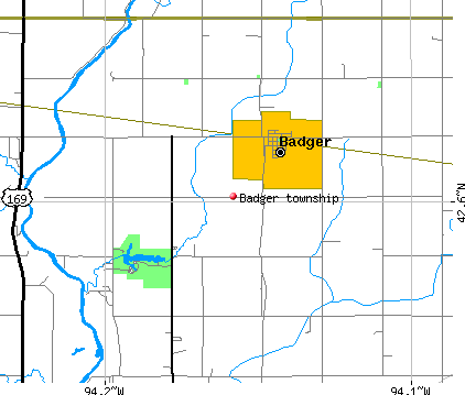 Badger township, IA map