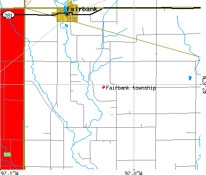 Fairbank township, IA map
