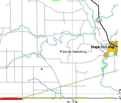 Union township, IA map