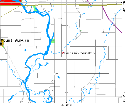 Harrison township, IA map