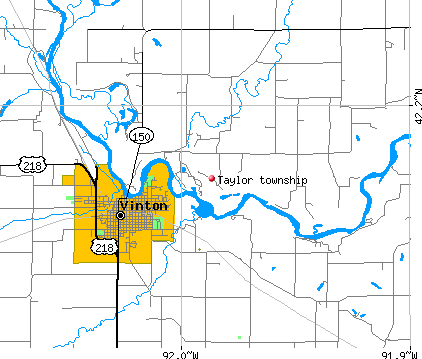 Taylor township, IA map