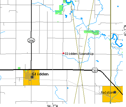 Glidden township, IA map