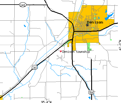 Denison township, IA map