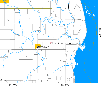 Elk River township, IA map