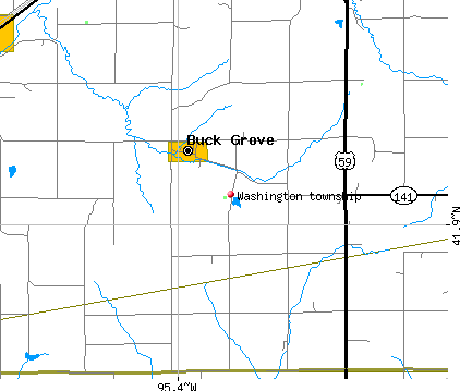 Washington township, IA map