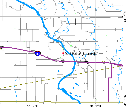 Rochester township, IA map