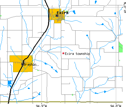 Exira township, IA map