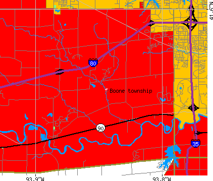 Boone township, IA map