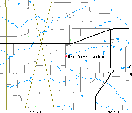 West Grove township, IA map