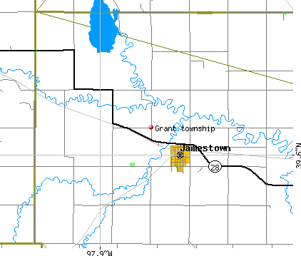 Grant township, KS map