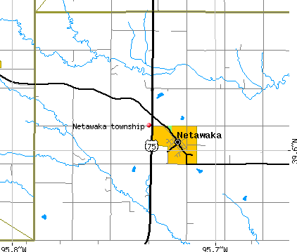 Netawaka township, KS map