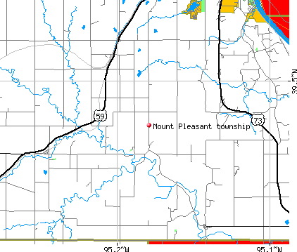 Mount Pleasant township, KS map