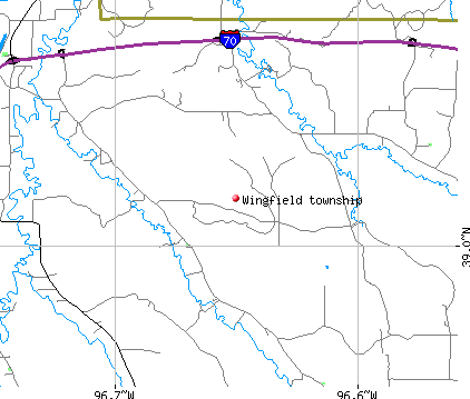 Wingfield township, KS map