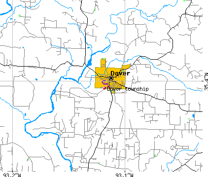 Dover township, AR map