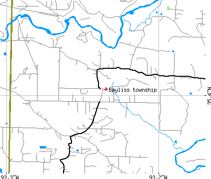 Bayliss township, AR map