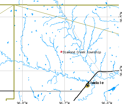 Diamond Creek township, KS map