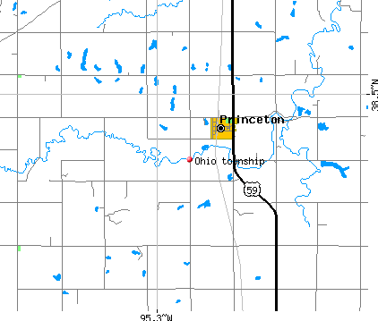 Ohio township, KS map