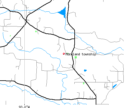 Moreland township, AR map