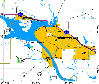 Illinois township, AR map