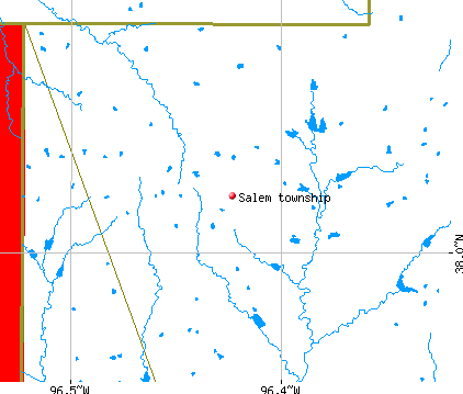 Salem township, KS map