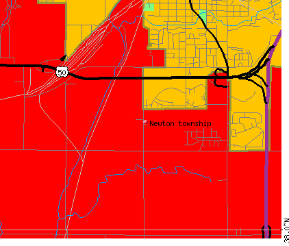 Newton township, KS map
