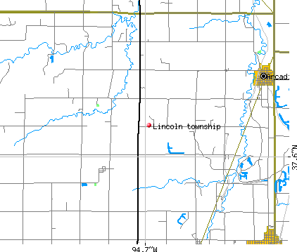Lincoln township, KS map