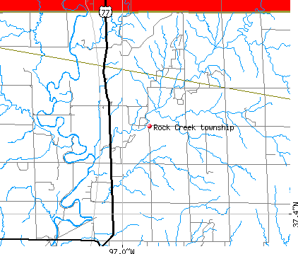 Rock Creek township, KS map
