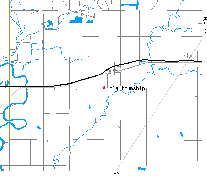 Lola township, KS map