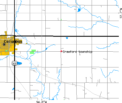 Crawford township, KS map