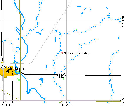 Neosho township, KS map