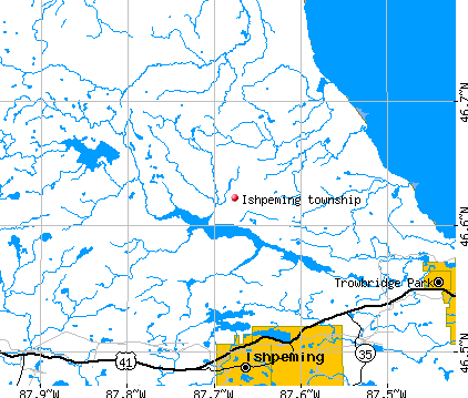 Ishpeming township, MI map