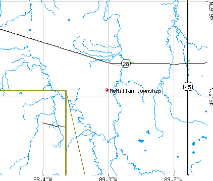 McMillan township, MI map