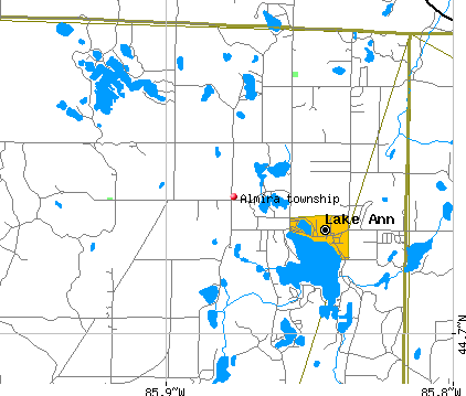 Almira township, MI map