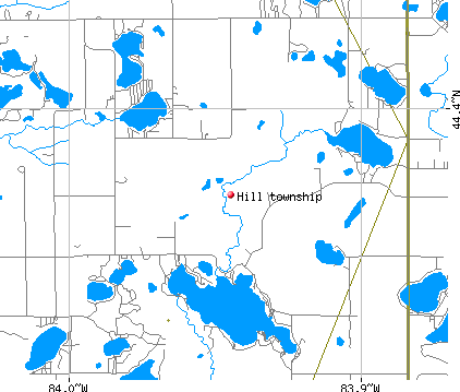 Hill township, MI map