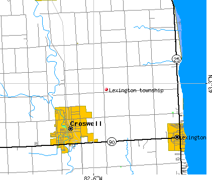 Lexington township, MI map