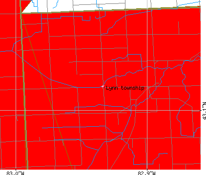 Lynn township, MI map