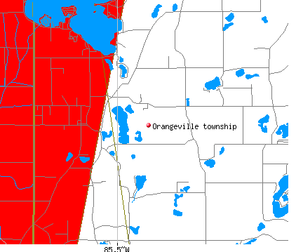 Orangeville township, MI map