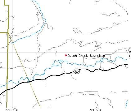 Dutch Creek township, AR map