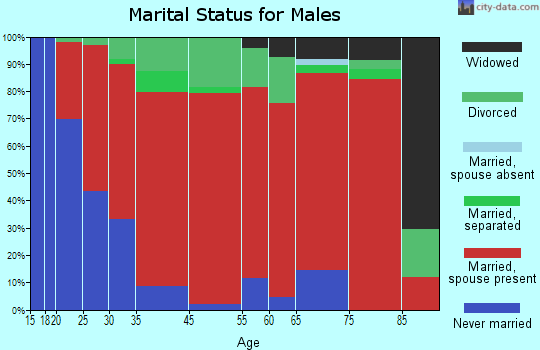 Indian Lake marital status for males