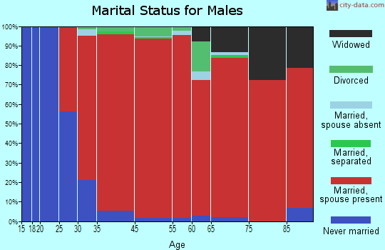 Whitestown marital status for males