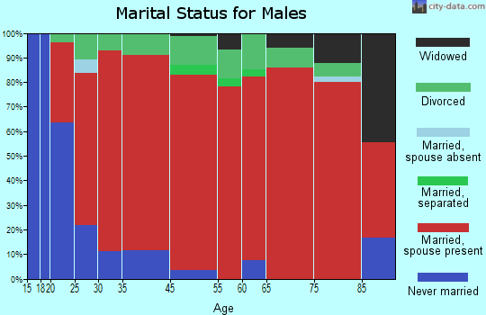 West Haskell marital status for males