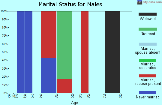 West Texas marital status for males