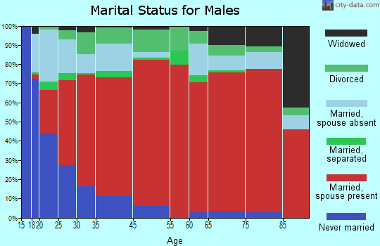East Cameron marital status for males