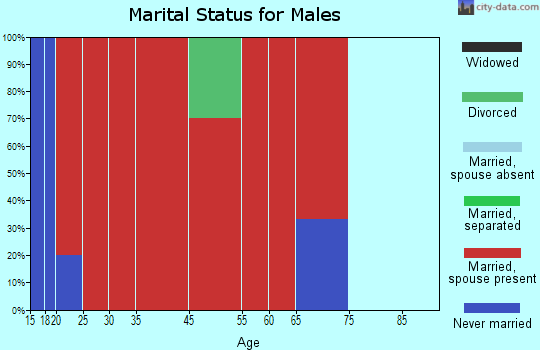 East Crockett marital status for males