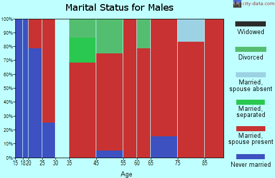 Northwest Harris marital status for males