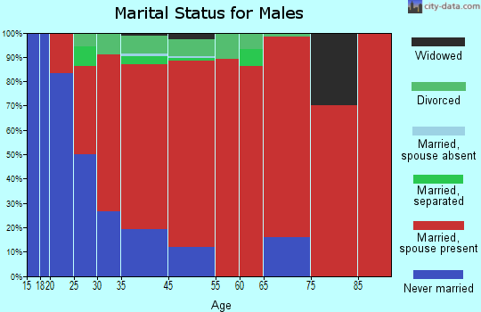 Willington marital status for males