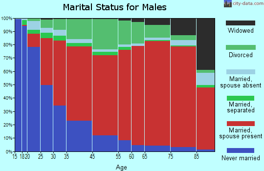 South Westside marital status for males