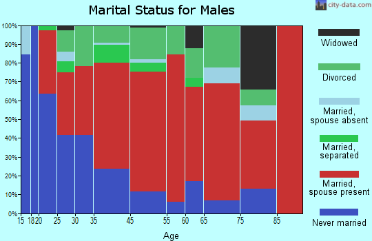 District 3, Leonardtown marital status for males